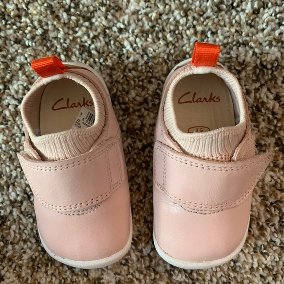 Clarks Shoes | Pink Leather Infant